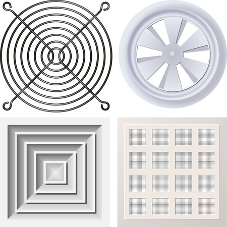 ventilation: Grate fan Illustration