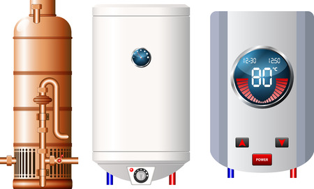 gas boiler: Water heater  Illustration