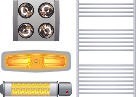 calentador: Calentador para el ba�o Vectores