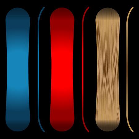 Snowboards black