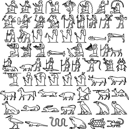 Egyptian hieroglyphs Vector