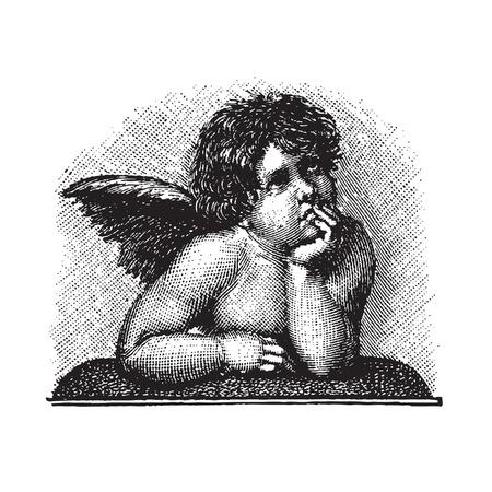 antique cupid engraving