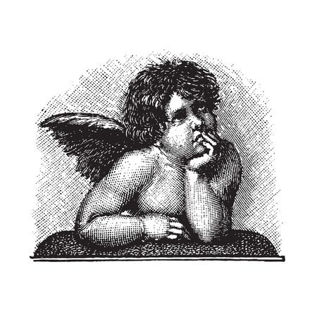 antique cupid engraving