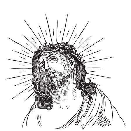 engrave: antique Jesus engraving Illustration