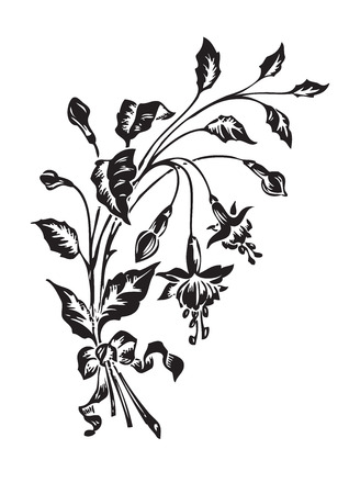 antique flowers engraving Stock Vector - 7153318