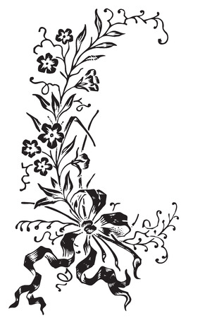 antique flowers engraving  Stock Vector - 7153463