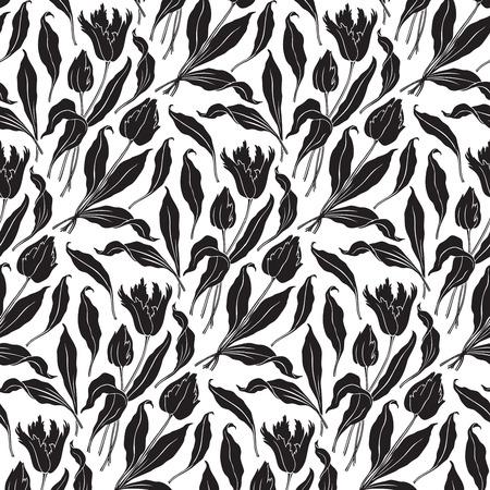 victorian textile: seamless pattern  Illustration