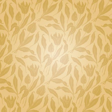 tulips: seamless pattern  Illustration