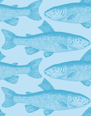 ichthyology: seamless pattern  Illustration
