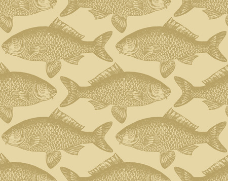 ichthyology: seamless fish pattern  Illustration
