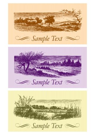 vintage cards set (vector)