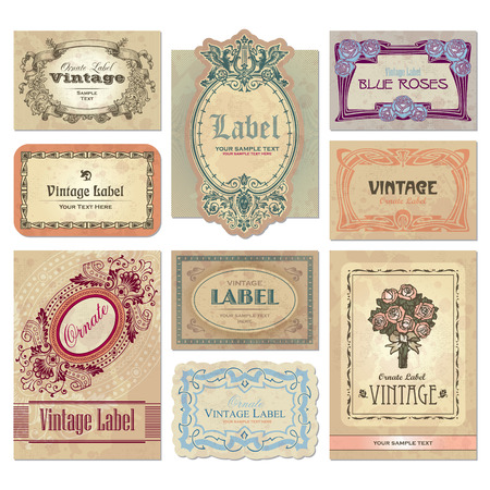 vintage labels set  Stock Vector - 7350486