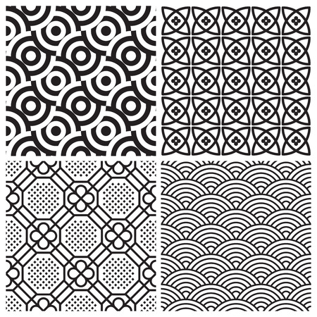 seamless patterns set (vector) Vector