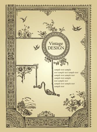 antique frame background Stock Vector - 7350466