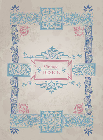 antique frame background  Vector