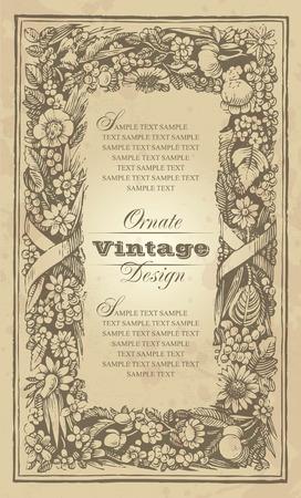vintage frame design Stock Vector - 7858785
