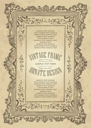 vintage frame design Stock Vector - 7858786