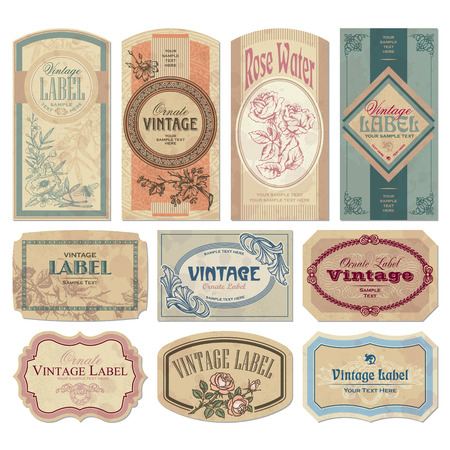 vintage labels set Stock Vector - 7858787