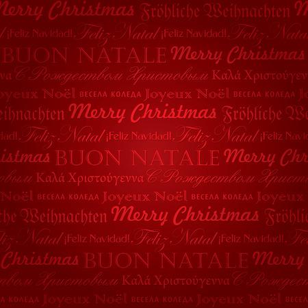 seamless multilingual christmas pattern