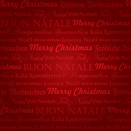 seamless multilingual christmas pattern  Vector