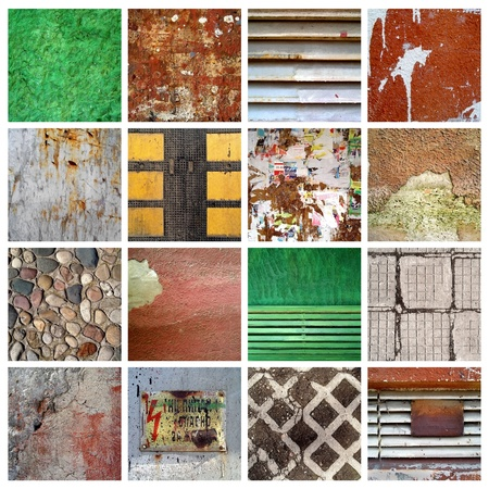 set of 16 grunge backgrounds, mixed textures photo