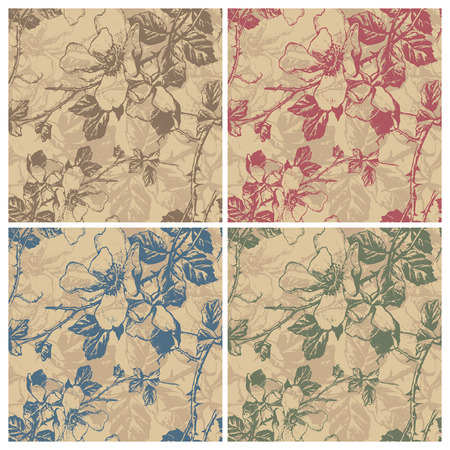 nature wallpaper: seamless retro floral pattern