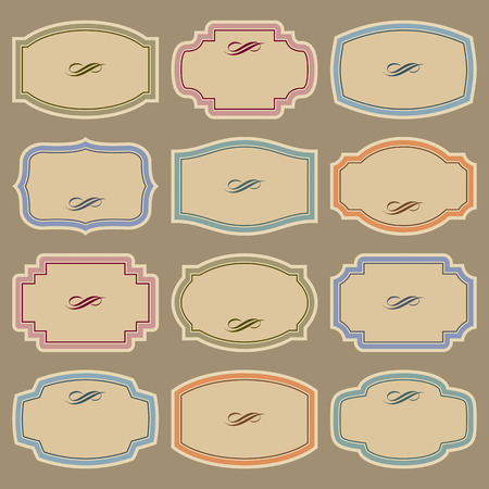blank vintage labels set  Vector