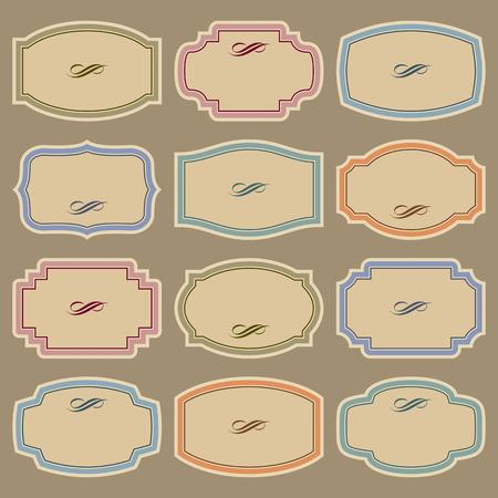 cartouche: blank vintage labels set
