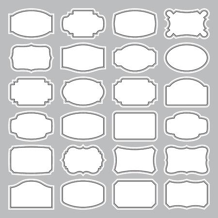 24 blank labels set