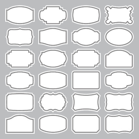 24 blank labels set Stock Vector - 9068515