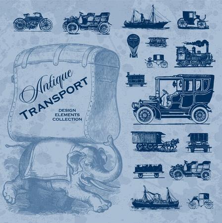 antique transportation set (vector) Stock Vector - 9198008