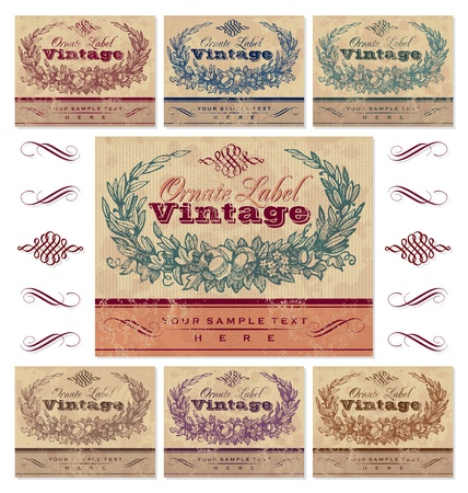 vintage labels set (vector) Vector