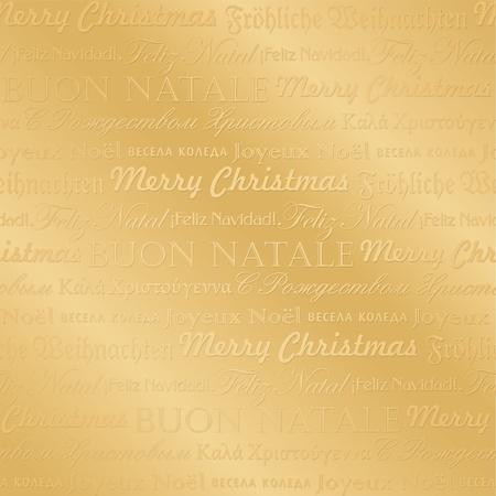 seamless multilingual christmas pattern (vector) Illustration