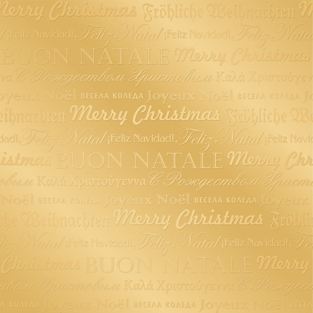 seamless multilingual christmas pattern (vector) Vector