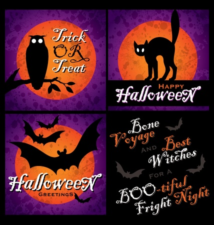 grungy halloween backgrounds  vector  Vector
