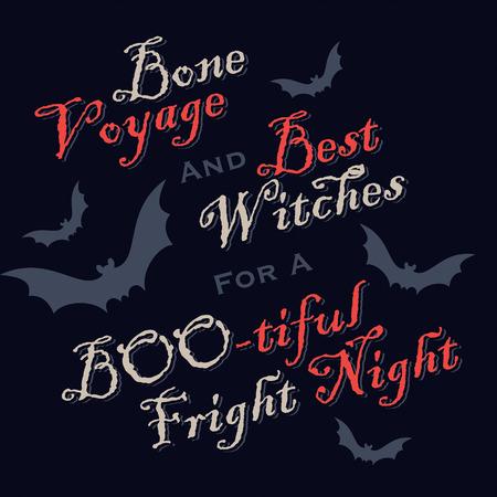 funny Halloween greetings   Vector