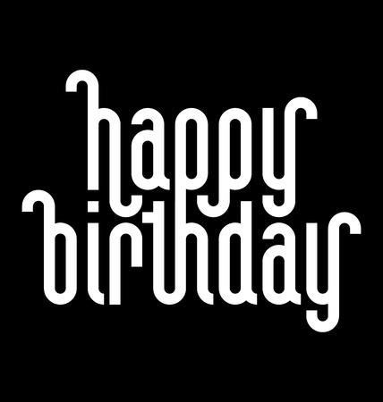 ligature: HAPPY BIRTHDAY lettering   Illustration