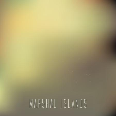 the marshal: White map of Marshal Islands on blury background Illustration