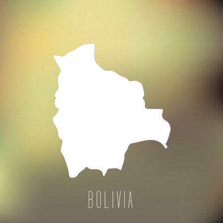 mapa de bolivia: Mapa Blanca de Bolivia en el fondo blury Vectores