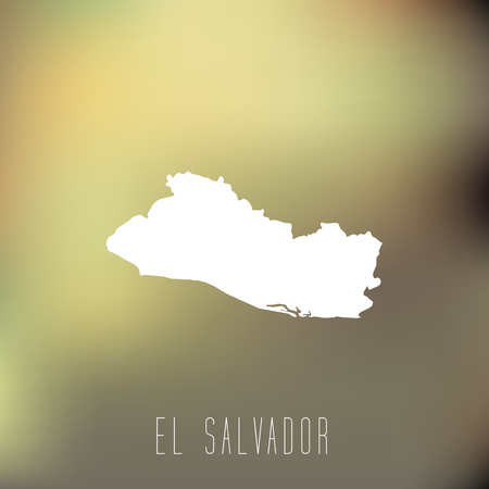 mapa de el salvador: mapa en blanco de El Salvador en el fondo blury