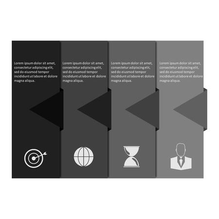 pendulum: Info graphic business template, vector design, development progress, idea