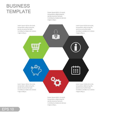 pendulum: Info graphic business template, development progress, idea