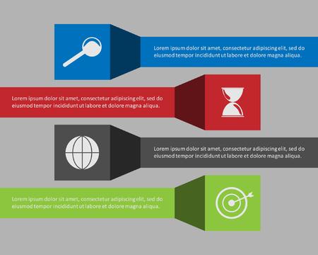 pendulum: Info graphic business template, development progress idea.