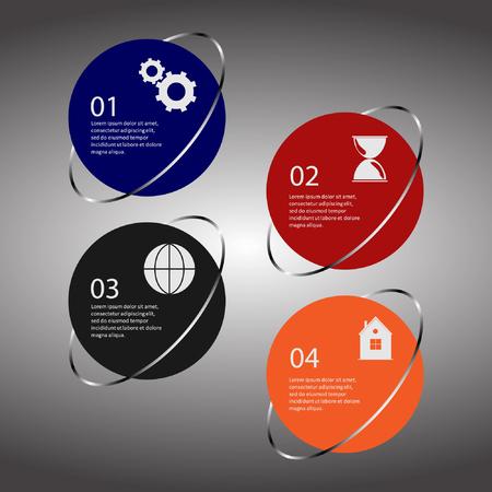 progression: Info graphic business template, development progress, idea