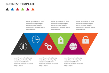 Info graphic business template, development progress idea.