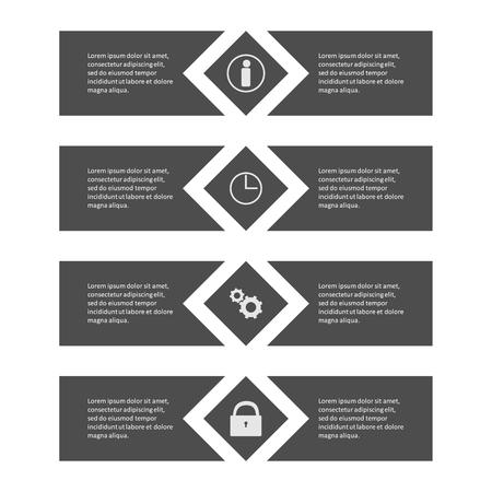 pendulum: Info graphic business template, development progress, idea.
