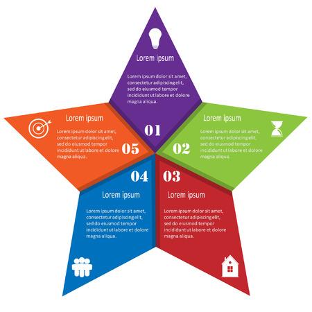 Info graphic business template, development progress, idea