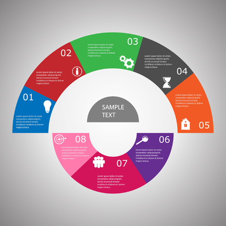 Info graphic business template, business option, idea, progress