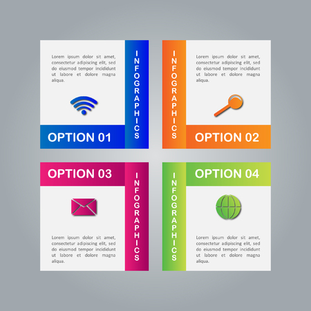 pendulum: Infographic business template, development, elements Illustration