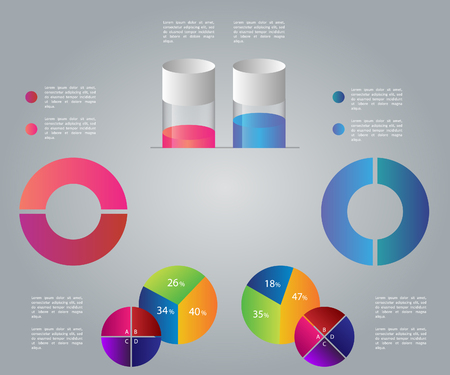 Infographic business template, development, elements Illustration